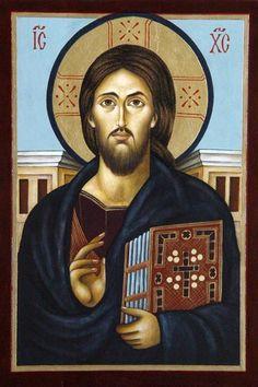 'Christ Pantocrator' - Artist Malvina Wojcik. / Chrystus Pantokrator - from http://www.touchofart.eu/Malwina-Wojcik/mw46-Chrystus-Pantokrator/