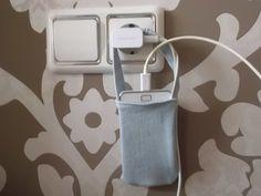 Cómo hacer una bolsita para guardar el móvil mientras carga con retales