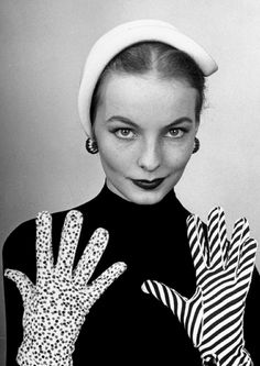 """Cover of the Feb. 25, 1952, issue of LIFE. The coverline of the issue: """"News in Gloves."""" by Nina Leen"""