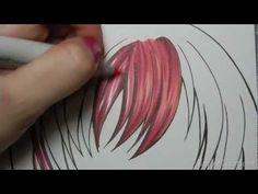 Copic Hair Tutorial