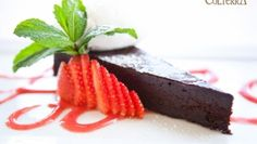 Flourless chocolate cake from Colterra