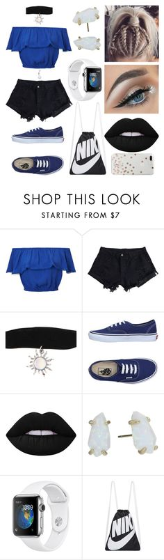 """""""Playlist"""" by eliza-winstanley ❤ liked on Polyvore featuring Miss Selfridge, WithChic, Hot Topic, Vans, Lime Crime, Kendra Scott, NIKE and Kate Spade"""