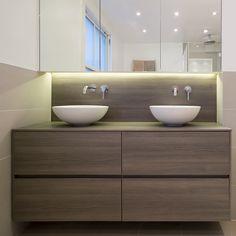 Clanricarde Gardens by Ardesia design #bathroom #basin #cabinet #countertop #basin #LED