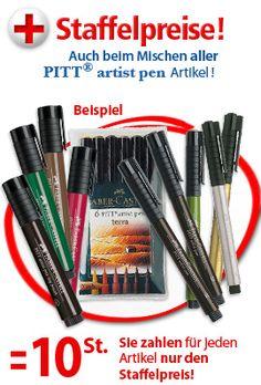 PITT artist pen BRUSH, Filzstift, Stift + Schreibgeräte - ZEICHEN-CENTER EBELING GmbH