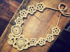 Carapacioue is a crocheted necklace made up of join-as-you-go motifs. I made this pattern because I love motifs but sometimes don't fanc...