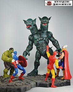 Tricephalous (Marvel Universe) Custom Action Figure