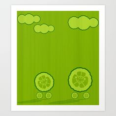 Dos pepinos. Kids print, cucumbers, illustration