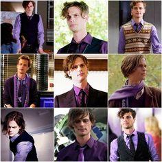Dr. Spencer Reid wearing the Royal Purple