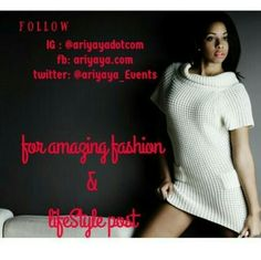 Follow @ariyayadotcom for amazing fashion and lifestyle inspiration....they sure would inspire your dress sense and total outlook to life...you would thank me later #lifestyle #fashion #design #love #beauty #ariyaya #ariyayadotcom #style #decor #inspiration #dope Get updates and special offers on Instagram http://ift.tt/1W9wMhj Twitter http://twitter.com/Clever_Inspire Like and share our official Facebook page http://ift.tt/21xvvjy #moneyonline #comment #comments #commentbellow #cash…