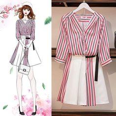 Cute Fashion, Look Fashion, Girl Fashion, Fashion Design Drawings, Fashion Sketches, Fashion Drawing Dresses, Fashion Dresses, Dress Illustration, Dress Sketches