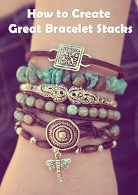 Turquoise Bohemian Boho Bracelet Bracelets Stack Stacked Layered Arm Party Candy brown green blue