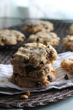 Peanut and Cookie Butter Chocolate Chip Cookies