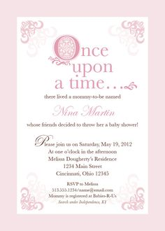 pink fairytale baby shower invitation by on etsy
