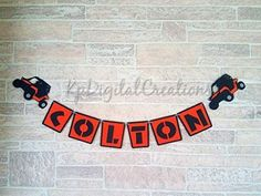 RZR Birthday Party Name Banner Decoration and Supplies Birthday Party Celebration, 2nd Birthday Parties, Birthday Party Decorations, Birthday Ideas, Motocross Birthday Party, Motorcycle Birthday, Party Banners, Name Banners, Party Themes For Boys
