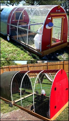 How to Build a Chicken Tractor  http://diyprojects.ideas2live4.com/2015/12/04/how-to-build-a-chicken-tractor/  There are several ways to house backyard chickens, but all these options have their own advantages and disadvantages.  If you are (or you're planning on) raising chickens and you have a relatively small backyard, a chicken tractor might be best suited for you.