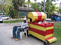 Jamaicans vendors are known for using hand carts as their vehicle of transportation.