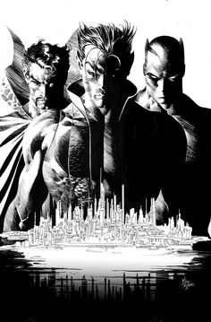 New Avengers #16 by Mike Deodato. He should really do entire books in black and white.