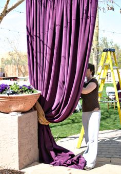AABSOLuetly!!! absolUETLY!!!! LOVE LOVE LOVE THIS IDEA FOR WEDDING DECOR! I'm doing this...maybe not in purple! Black yes!
