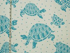 Scalamandre turtle fabric turquoise reversible indoor outdoor- destash from Brick House Fabric: Novelty Fabric