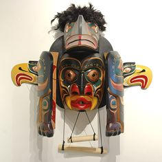Raven / Human Transformation by Patrick Hunt, Kwakwaka'wakw artist (W70906)