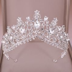 Mary's Bridal, Bridal Crown, Bridal Tiara, Bridal Style, Quinceanera Tiaras, Rose Gold Quinceanera Dresses, Quinceanera Party, Crown Aesthetic, Princess Aesthetic