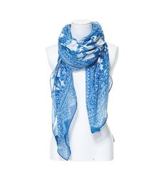 Image 2 of FLORAL PORCELAIN PRINT SCARF from Zara