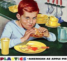 Plastics. American as apple pie