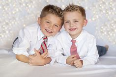 ties and jeans, kid Christmas photography
