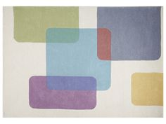 teppich ''circolo'' - aus rotem und orangem polypropylen, 160x230, Hause ideen