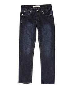Look at this #zulilyfind! Indigo Dark-Wash Denim Jeans #zulilyfinds