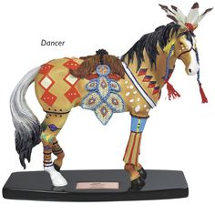 """Horse of a Different Color """"Dancer"""" Figurine Trail Of Tears, Beauty In Art, Painted Pony, Carousel Horses, Breyer Horses, Animal Paintings, Beautiful Horses, Different Colors, Mustang"""