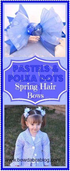 Pastel & Polka Dots Spring Hair Bow DIY Tutorial