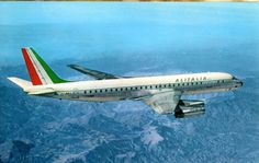 """Alitalia Douglas I-DIWN """"Giuseppe Verdi"""" in a promotional image taken around the time of its delivery in October (Image: Alitalia) Alitalia Airlines, Jet Airlines, Douglas Dc 8, Plane Photos, Douglas Aircraft, Old Planes, Passenger Aircraft, Vintage Air, Civil Aviation"""