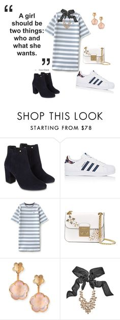 """""""Untitled #458"""" by nikkirozaye on Polyvore featuring Monsoon, adidas, Lacoste L!VE, MICHAEL Michael Kors, Pasquale Bruni and GUESS by Marciano"""