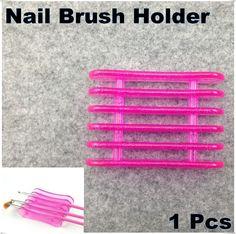 좋은 품질 장미 붉은 네일 아트 브러쉬 펜 홀더 스탠드 5 개 메이크업 네일 아트 브러시 도구 + 무료 배송( NR- ws9)