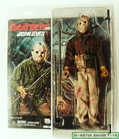 Friday The Part 6 Jason Clothed Retro Action Figure Neca Scary Movies, Horror Movies, Funny Movies, Friday The 13th Music, Horror Action Figures, Horror Merch, Movie Scripts, Classic Monsters, Movie Collection