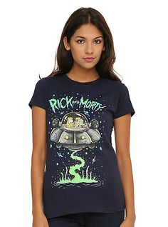 Rick And Morty Spaceship Girls T-ShirtRick And Morty Spaceship Girls T-Shirt,