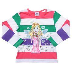 Nova Girls-White/Colour Long Sleeve Angel Top-F1203-White-Green-Pink-Purple $7.00 on Ozsale.com.au
