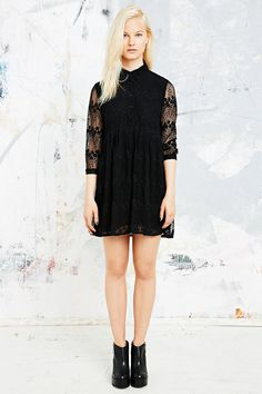 Little White Lies Floral Mesh Button Dress in Black on shopstyle.co.uk