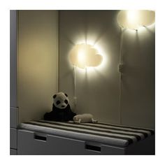 IKEA DRÖMSYN wall lamp Gives a soft mood light.