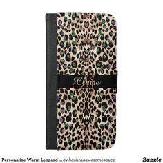 Personalize Warm Leopard iPhone 6 Plus Wallet Case