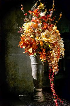 Tuscan beauty floral arrangement part of the Think Chic Design Company Gloriously Chic collection
