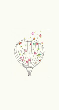 Cute ballon design iphone wallpaper
