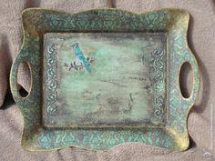 "Декупаж - Сайт любителей декупажа - DCPG.RU | Набор ""Бирюзовый закат"" Click on photo to see more! Нажмите на фото чтобы увидеть больше! decoupage art craft handmade home decor DIY do it yourself tray"
