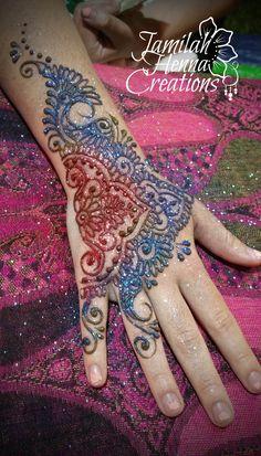 henna glitter  www.jamilahhennacreations.com