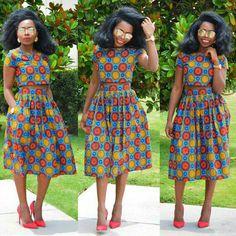 Ankara Skirt and Crop Top