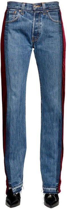 Zac Velvet & Denim Patchwork Jeans