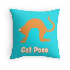Animal Yoga Cat Pose Orange. If you like yoga then you know how good this pose feels. Now you can get it on almost any product you like at Redbubble.