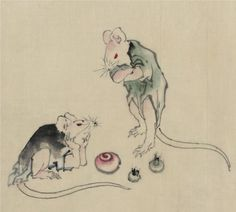 Katsushika Hokusai Mice In Council print for sale. Shop for Katsushika Hokusai Mice In Council painting and frame at discount price, ships in 24 hours. Japanese Drawings, Japanese Prints, Japanese Art, Art And Illustration, Snake Painting, Katsushika Hokusai, Pet Mice, Art Database, Woodblock Print