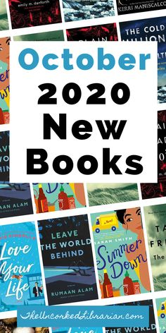 Discover the most-anticipated October new book releases. Are you wondering what to read next and want to fill your TBR pile? Try one of the hot new October 2020 book releases filled with books that will transport you around the world, historical fiction, thrillers, mysteries, romances, and so much more.